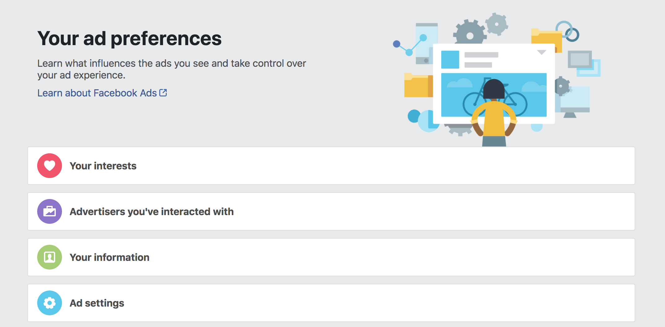 Facebook Ad Preferences protect privacy