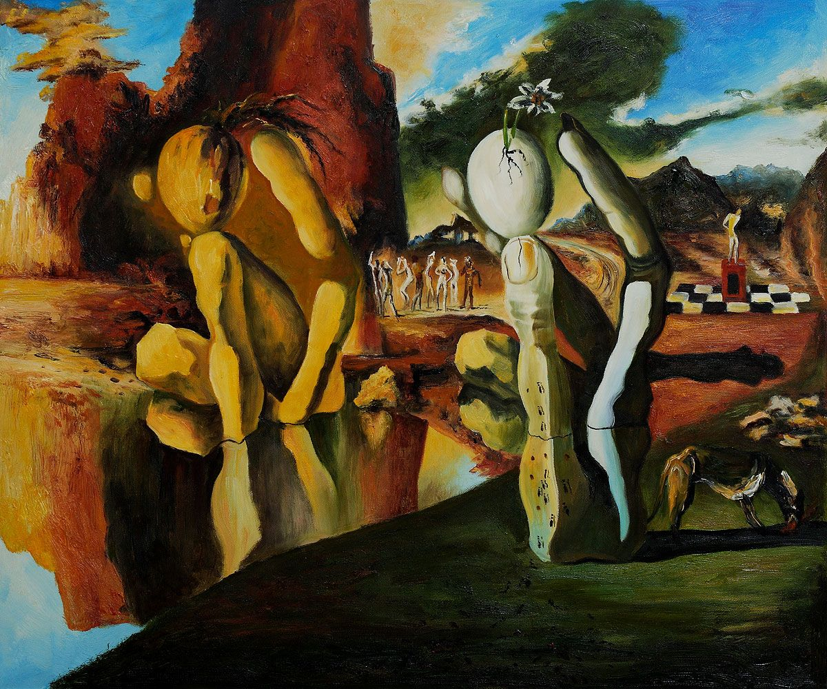 dali metamorphosis of narcissus